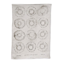 makelike design - Tea Towel - Spore Print - This one-color tea towel is hand-screenprinted using water-based inks on 100% European linen.
