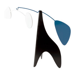 Ekko Workshop - Original Desktop Mobile - Blue/White - Art lovers will appreciate this Calder-esque mini mobile. It's the perfect pop of bold design to brighten up a workspace. Pick from two distinctive color palettes and delight in the play of light and shadows that will unfold each day in the afternoon sun.