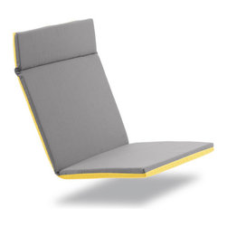Loll Designs - Lollygagger Cushion for Lounge and Sofa, Yellow/Grey - The new Lollygagger Cushion offers a soft seating option perfectly fitted for both our Lollygagger Lounge and Sofa. A Velco strap around the back will keep the cushion secure and the grey/yellow combo lets you decide how to dress up for your lollygagging days.