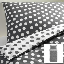 Stenklöver Duvet Cover - I love me some polka dots! Because of the gray and white combination, this will go in pretty much any space.