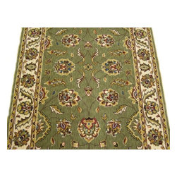Momeni - Persian Garden 30 Inch Runner Traditional Stair Runner Sage - Stair & Hallway Runners Are Sold By The Linear Foot!