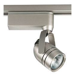 Progress Lighting - Progress Lighting P6105-09 Miniature Halogen 1 Light Track Head - Progress Lighting P6105-09 Miniature Halogen 1 Light Track Head In Brushed Nickel