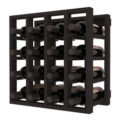 Lattice Stacking Wine Cubicle in Pine with Black Stain - Designed to stack one on top of the other for space-saving wine storage our stacking cubes are ideal for an expanding collection. Use as a stand alone rack in your kitchen or living space or pair with the 20 Bottle X-Cube Wine Rack and/or the Stemware Rack Cube for flexible storage.