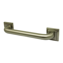 Kingston Brass - 30in. Decorative Grab Bar - Fabricated from solid brass material for durability and reliability, 1-1/4in. gripping surface on grab bar, Easy to install, 1-1/2in. (38mm) wall clearance meets ADA standard, Mounting hardware included (2x#10 Philips Head Screw. Total 6pcs), 30in. overall length, 1-1/4in. outer diameter, One Year Limited Warranty to the original consumer to be free from defects in material and finish.