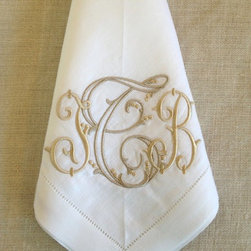 Sferra Festival Napkins - Use personal touches like these monogrammed linen napkins.