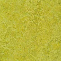 Forbo Marmoleum - Chartreuse Natural Linoleum Tile - Green Building with Marmoleum has never been more beautiful. Marmoleum Natural Linoleum is made from some of the best stuff on earth - linseed oil, pine rosin, wood flour, limestone, and organic pigments.   Marmoleum Dual Tiles Are Serious Fun  Marmoleum Dual Tiles contrasting pigments  combined with a special production technique create a deep pronounced structure giving the floor an almost stonelike appearance.   Marmoleum Neutral and saturated colors are available for a combined total of 32 unique tile color expressions.  Available in 10.76 Sq Ft  Carton or  53.82 Sq Ft  Carton.
