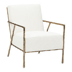 Tremont Chair - The Tremont Chair balances sophistication with a relaxed feel. The tailored look paired with the delicated bronze finished frame ensure this chair to be an excellent choice for extra seating.