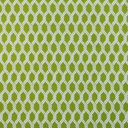 """Small Geometric Lattice 4 Upholstery Fabric, Green - This small scale geometric / lattice features a tightly-woven, ribbed texture in green and is suitable for upholstery, cornice / headboards, and other decorative uses. The fabric is reversible with the color layout being inverted on the """"back"""" side."""