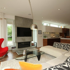 Contemporary Living Room by Sculptural Design Cast Concrete