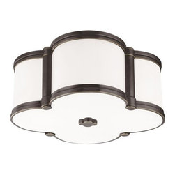 Hudson Valley Lighting - Hudson Valley Lighting 1212 Chandler 2 Light Flush Mount Ceiling Fixture - Our four-leaf clover ceiling fixture is a lucky find. From Mediterranean to modern, Chandler's inviting glow of ambient light is a welcome addition to any well-appointed space. Cast metal and custom opal glass give lasting life to this quatrefoil design.Dimensions: