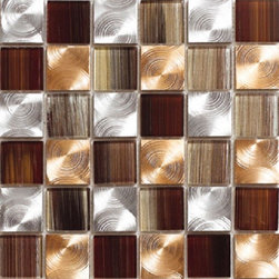 Kertiles Metal Mosaics Damasco Copper - Kertiles Metal Mosaics Damasco Copper