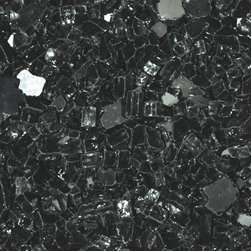 "American Fireglass Black Reflective | 1/4-in Fire Glass | 10 Lbs - AFF-BLKRF-10 American Fireglass 10 lbs 1/4"" Accent Gems - Black Reflective  1/4-in Black Reflective Fireglass is available in our Premium Collection. It is one of our most popular fireglass colors from our Premium Collection. Black Reflective is our top recommended color when using L.P (liquid propane) due to carbon soot that may build up over time however is not noticeable on the black fireglass. We recommend mixing Black Reflective with Gold Reflective if you want to add a little flare to the appearance of your fireglass. The reflective properties offer a brilliant sparkle under the mid day sun or a reflection of fire while the flame is burning after dark. Perfect for outdoor fire pits and fireplaces Provides unequaled versatility: available in a multitude of colors & sizes Glass Gems are tempered for long term heat exposure - Thanks to the special manufacturing process Fireglass Gems retain their color and actually burn cleaner than gas logs An Average 36"" Fireplace Takes Approximately 60 lbs. of gems An Average 42"" Fireplace Takes Approximately 80 lbs. of gems Lava granules can be used initially on the burner then covered with Fireglass Gems to reduce the amount needed Gems are sold in 10 bags Combine multiple gem colors for spectacular fire!"