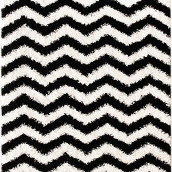 """Nu Loom - Shag Shag 9'2""""x12' Rectangle Black-White Area Rug - The Shag area rug Collection offers an affordable assortment of Shag stylings. Shag features a blend of natural Black-White color. Machine Made of 100% Polypropylene the Shag Collection is an intriguing compliment to any decor."""