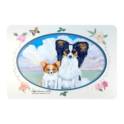 Caroline's Treasures - Papillon Kitchen Or Bath Mat 20X30 - Kitchen or Bath COMFORT FLOOR MAT This mat is 20 inch by 30 inch.  Comfort Mat / Carpet / Rug that is Made and Printed in the USA. A foam cushion is attached to the bottom of the mat for comfort when standing. The mat has been permenantly dyed for moderate traffic. Durable and fade resistant. The back of the mat is rubber backed to keep the mat from slipping on a smooth floor. Use pressure and water from garden hose or power washer to clean the mat.  Vacuuming only with the hard wood floor setting, as to not pull up the knap of the felt.   Avoid soap or cleaner that produces suds when cleaning.  It will be difficult to get the suds out of the mat.