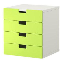 Ebba Strandmark - STUVA Storage combination with drawers - Storage combination with drawers, white, green