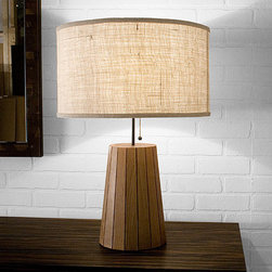 Stoolen Lamp by Uhuru - This lamp is a wonderful example of making something from scraps - literally. Its designer, Bill Hilgendorf, collects wood scraps from local workshops to create each unique Stoolen lamp. The result is a beautifully contemporary lamp that will add a gorgeous shape and up-cycled textures to your home.