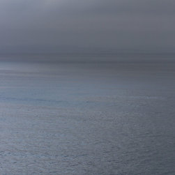 Tim Burns Photography - Blue Water - Fine Art Digital Print, 30 X 40 - Blue Water - a late summers afternoon, the fog is gently pushing in towards the coast. A mix of shimmery blue and grey tones.