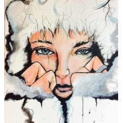 Ice (Original) by Gary Bilodeaux - This is a great art Nuevo piece. It's part of a set if three email me for details.