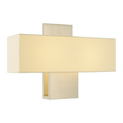 Sonneman - Sonneman 1861 Ombra Wall Sconce - Sonneman 1861.13 Ombra Satin Nickel Contemporary Wall Sconce