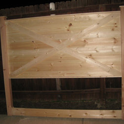 Vintage Headboards - Barn door style Vintage Headboard made to fit a king or queen size bed