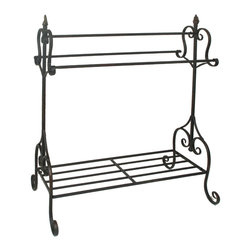 Benzara - Unique Black Metal Quilt Rack - Adorn your home with this stylish quilt rack. The Quilt Rack is made from quality metal and comes with exquisite carvings and elegant classical style metal pipe design. The perfect item for hanging quilts, clothes, and even shoes, this elegant quilt rack is a value addition to any home. The dimensions of the Quilt Rack are 31 +� 31 +� 39 (L +� W +� H). Metal; 31+� +� (L +� W +� H)