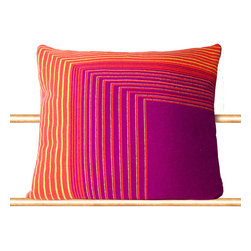"Tabula Rasa - Isoline Pillow in Bright Purple - 20"" x 20"" - Tabula Rasa - Tabula Rasa defined as ""Blank Slate"" is conceived of the concept that any space we inhabit should be a template to express personal style beyond clothing and a vessel for the comforts and luxuries of your actual home - wherever that may be.  Be it a bedroom, weekend cabin or studio, Tabula Rasa brings your own space along with you.  No place should be a barrier to style and you should never travel without yourself."