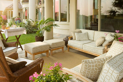 mediterranean patio by Richens Designs, Inc.