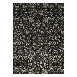 "Loloi Rugs - Loloi Rugs Journey Collection - Black / Silver, 3'-3"" x 5'-3"" - Inspired by the success of our top selling Nyla Collection, the Journey Collection looks just as elegant, but offers more modern appeal. It's also extremely versatile, looking just as flattering in a contemporary loft as it does in a traditional setting. And because Journey is power loomed in Egypt of 50% wool and 50% viscose, you get the best of softness and sheen."