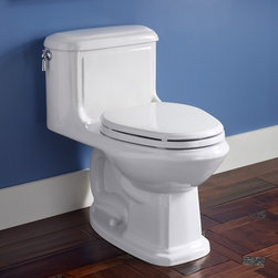 American Standard Antiquity Cadet 3 Right Height 1-Piece Toilet - Smarter design for higher performance and fewer clogs – all at a great price. The Cadet® 3 series toilets come in a variety of styles; one piece and two piece models, elongated and round front bowls, right height and compact versions and even water efficient models that flush on just 1.28 gallons per flush. The Cadet 3 is a hard working versatile series with superior performance.