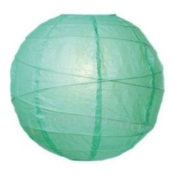 Mint Green 14 Inch Premium Round Paper Lantern - Perfect for a party or as unique lighting in the home, these mint green paper lanterns are great additions for outdoors or in. And how fun would these be if bunched in a nursery?