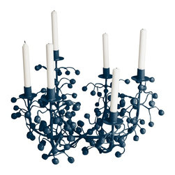 Stray Dog Designs - Stray Dog Designs Katherine Candelabra-Down Pour Blue - i must say i do love this candelabra....it just looks like it grew right out of the surface it is placed on. So juicy, wild and organic. It is hand crafted of papier mache and available in all of our low VOC colors. You should get 1 or 2 to liven up your dinner parties.See our other color choices