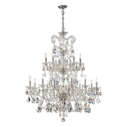 Quorum Lighting - Quorum Lighting Bohemian Marien Traditional Chandelier X-415-81-466 - With intricate detailing in the crystal accents, the Quorum Lighting Bohemian Marien Traditional Chandelier displays a luxurious appeal. The polished chrome finish frame adds an extra lavish look to the Chandelier. Make this eye-catching Chandelier a statement piece to your well decorated home.