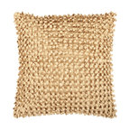 """Surya - Looped Design Square Pillow BB-041, 18"""" X 18"""" - This pillow brings texture to any space. With a looped design, this decorative pillow adds a bit of fun to your room. The color gold accents this pillow. This pillow contains a poly fill and a zipper closure. Add this pillow to your collection today."""