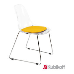 Kubikoff - Stack Chair, Black, Turquoise Seat Pad - Stack Chair
