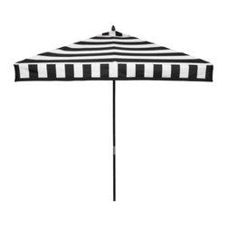 Z Gallerie - Portofino Umbrella, Black - This graphic outdoor umbrella is fun, fresh and most definitely funky.