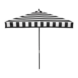 Z Gallerie - Portofino Umbrella, Black - This graphic outdoor umbrella is fun, fresh and most definitely funky.