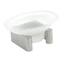 Alno Inc. - Counter Top Soap Dish with Glassware (ALNA6835-PC) - Counter Top Soap Dish with Glassware