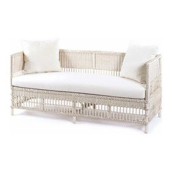 7435 Vineyard's Wicker Daybed - Beach houses are all about how many people they can sleep. This is the place where that extra guest will sleep at night, while serving as a stylish sofa during the day. It comes in a range of great colors.