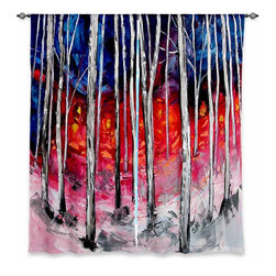 """DiaNoche Designs - Window Curtains Unlined - Aja-Ann Silver Birch - DiaNoche Designs works with artists from around the world to print their stunning works to many unique home decor items.  Purchasing window curtains just got easier and better! Create a designer look to any of your living spaces with our decorative and unique """"Unlined Window Curtains."""" Perfect for the living room, dining room or bedroom, these artistic curtains are an easy and inexpensive way to add color and style when decorating your home.  The art is printed to a polyester fabric that softly filters outside light and creates a privacy barrier.  Watch the art brighten in the sunlight!  Each package includes two easy-to-hang, 3 inch diameter pole-pocket curtain panels.  The width listed is the total measurement of the two panels.  Curtain rod sold separately. Easy care, machine wash cold, tumble dry low, iron low if needed.  Printed in the USA."""