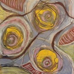 Lesli Marshall - Cellfless - Mixed media on canvas