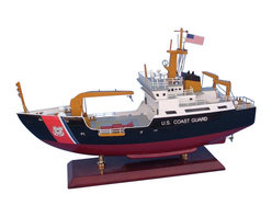 "Handcrafted Model Ships - USCG Buoy Tender 16"" - Wood Coast Guard Model Boat - Sold fully assembled"