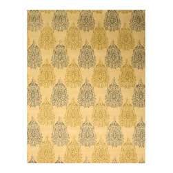 EORC - T104IV Ivory Hand Tufted Wool Royal Paisley Rug, 5' x 8' - The modern styling of this classic paisley pattern make this versatile rug an elegant choice and aneasy fit to any room.