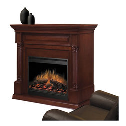 Dimplex - Dimplex Timothy Mantel Electric Fireplace in Burnished Walnut - Dimplex - Electric Fireplaces - DFP8930BW - This fireplace will appeal to anyone who appreciates the nuances of classical furniture design. The elegant crown molding the torus molding of the header and decorative pilasters continue the theme. The classical appearance combined with the restful flames creates a welcoming presence in any room.