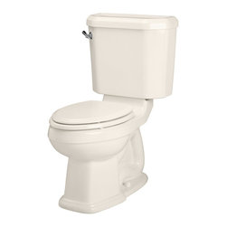 American Standard - Townsend Champion 4 Right Height Elongated Two-Piece Toilet in Linen - American Standard 2733.014.222 Townsend Champion 4 Right Height Elongated Two-Piece Toilet in Linen.