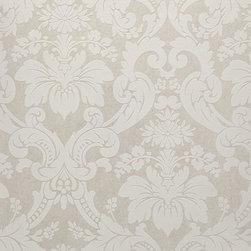 Wallpaper Worldwide - Century Classic - Damask Wallpaper, Blue, White - Material: Non-woven