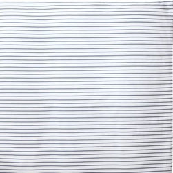 Serena & Lily - Percy Stripe Duvet Cover Cobalt - Our cheerful pinstripes easily layer with patterns or solids. Printed on pure white, the perfectly spaced lines run horizontally across the front and back.