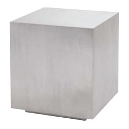 Nuevo Living - Caldo Side Table - Caldo Side Table is made from solid brushed stainless steel. It is a great multi-functional accent piece for those with a taste for the industrial Bauhaus look. It is a unique side table one moment, a modern occasional seat the next.