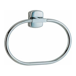 Smedbo - Smedbo Cabin Towel Ring, Polished Chrome - Smedbo Cabin Towel Ring, Polished Chrome
