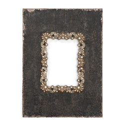 Z Gallerie - Hamilton Frame - We love the unexpected combination of sparkly gems and distressed wood in our stylish Hamilton Frame. The weathered appeal of the deep brown frame is offset by an inner rim of decorative bronze metal dotted with ivory pearls and sparkly gems, for a fantastic way to display your treasured memories.
