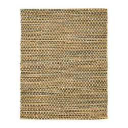 Anji Mountain AMB0331 Ilana Jute and Chenille Cotton Rug - Tan - Your feet will love the chunky texture of theAnji Mountain AMB0331 Ilana Jute and Chenille Cotton Rug – Tan. Showcasing a wonderful multi-colored design, this woven area rug is crafted of 20% cotton and 80% jute that sits on a cotton and latex backing.About Anji Mountain Bamboo Rug Co.Anji Mountain Bamboo rugs and office chair mats are ecologically friendly. Bamboo has a robust root system that generates multiple new shoots for every mature stalk that is harvested. Unlike hardwood that can take decades to grow to a mature height ready for harvest, bamboo grows 8-12 feet a year! When you purchase a rug or office mat from Anji Mountain Bamboo Rug Co., you help support the ecologically responsible practice of regulating sustainable bamboo forests instead of clear-cutting old-growth hardwood forests.The dense, durable bamboo that Anji Mountain Bamboo Rug Co. uses is carbonized and kiln dried to remove moisture, which helps prevent cracking and warping. Because of this process, their bamboo rugs and office chair mats are ready to withstand the dry heat of your home or office in the wintertime or the arid climate of those living in the desert and mountains.